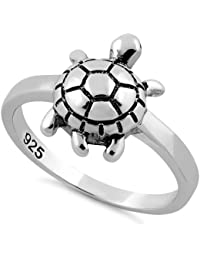Naitik Jewels 925 Sterling Silver Turtle Design Wedding & Engagement Ring For Women