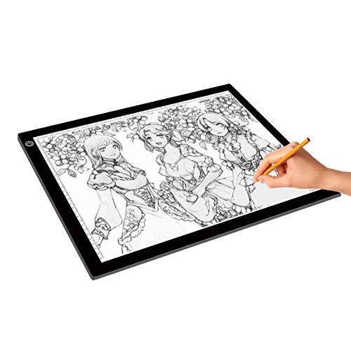 LED A3 Copy Board Super Thin Drawing Copy Tracing Light Box Drawing Light Pad mit Helligkeit für Tattoo Sketch Architecture Kalligrafie Handwerk