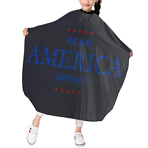 Child Children Kids Haircut Barber Cape Cover For Hair Cutting Keep America Great (Mrs America Kostüm)