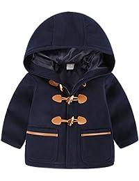 TXYSEFS Baby Jungen Mantel Duffle Coat Herbst Winter Kapuze Jacke Outerwear Oberbekleidung für Körpergröße 85-135cm Warm Fashion