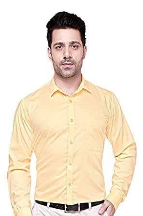 Raza Fashion Men's Red Regular Fit Formal Shirt