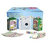 Fujifilm Instax Camera Mini 9 Bundle Pack with 40 Films Shot Free (Smoky White)