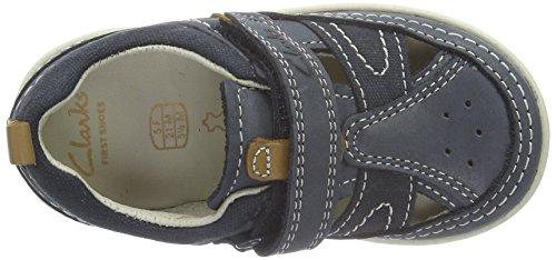 Clarks Kids - Softlyluke Fst, Scarpe da ginnastica Bambino Blu (Navy Leather)