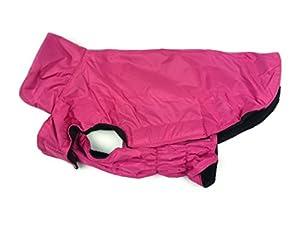 Manteau imperméable chaud doublé en polaire pour chien Protège-poitrail, passepoil réfléchissant pour sécurité nocturne Tailles du XS au XXXL