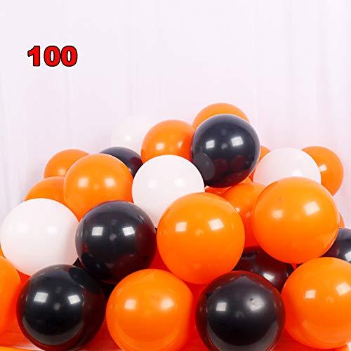 Kostüm Verkauf Zum Ein Von Art Einer - FreF 100 Stück Luftballons Schwarz Ballons Luftballon für Damen Herren Geburtstag Abschluss Halloween Party Deko,D