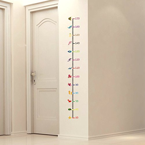 Pegatina medidor altura animalitos dormitorios bebes