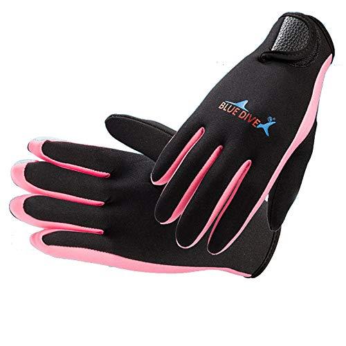 Waselia Damen Herren Gloves 1.5MM Neopren Winterfest Schwimmen Schwimmen Tauchen Schnorcheln Tauchhandschuhe