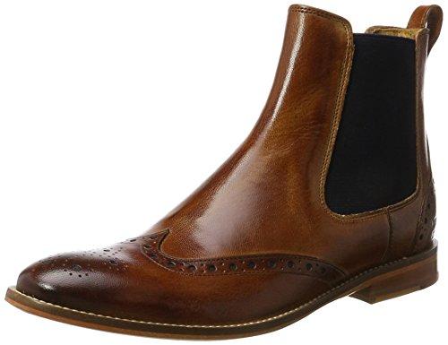 Melvin & Hamilton Damen Amelie 5 Chelsea Boots Braun (Venice Tan, Ela. Navy, LS NAT.)