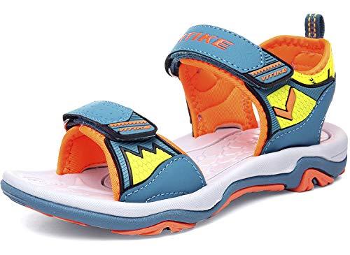 Unisex-Kinder Sandalen Trekking Wanderschuhe Jungen Outdoor Sandalen Mädchen Offene Strand Beach Sandalen, 2-orange, 29 EU - Orange Kinder Sandalen