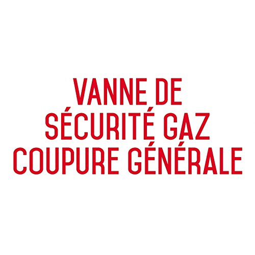 Valvola di sicurezza gas Crossover generale - Sticker Vinyl Waterproof - L.200 X H.100 mm