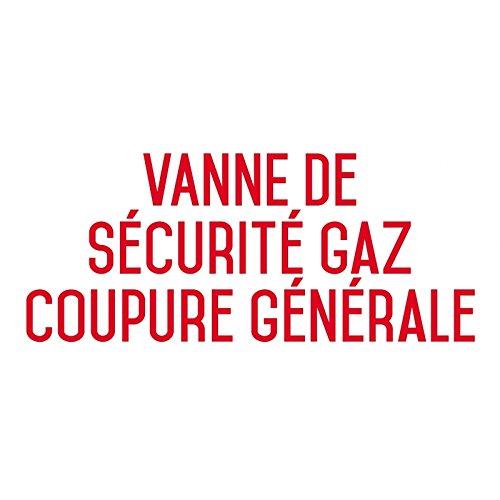 Valvola di sicurezza gas Crossover generale-Sticker Vinyl Waterproof-L.200X H.100mm