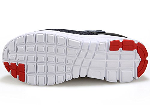 Unisex-Erwachsene Pantoffel Clogs Schuhe Breathable Mesh Hausschuhe AntiRutsch Flach Sandalen Slippers Herren Mules Schwarz Rot