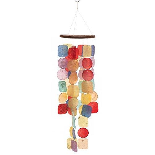 HAB & GUT -HA0P2- Windspiel Regenbogen, Perlmutt, 63 cm, Fensterschmuck, Mobile für Fenster, Terrasse und Balkon