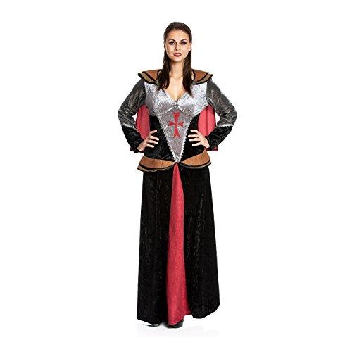 Kostümplanet® Ritter-Kostüm Damen Mittelalter Kostüm Edeldame Königin Burgfrau Größe 44/46
