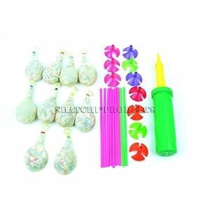 Gifts 4 All Occasions Limited SHATCHI-68 - Juego de 10 globos de peluche con bomba para decoración de cumpleaños, bolsa de fiesta para niños, juguetes de regalo, multicolor