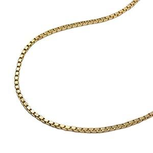 Chaîne collier vénitienne chaîne diamant plaqué or longueur 60 cm