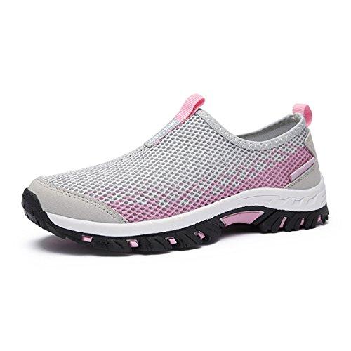 Malha Chinelo Anti Leve Cinza Facilmente Unisex rosa Sapatos Confortáveis slide Respirável Ar Adultos Caminhadas botas De Ao Livre B8qxpHXw