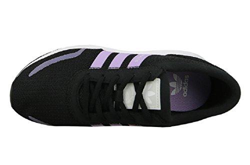 adidas Unisex-Kinder Los Angeles J Laufschuhe Mehrfarbig (Core Black/purple Glow S16/ftwr White)