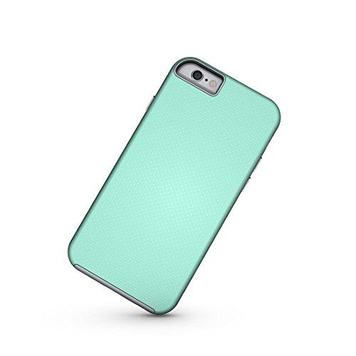 Für iPhone 6 / 6s, Ball Texture Anti-Rutsch-PC + TPU schützende rückseitige Abdeckungs-Fall DEXING ( Color : Black ) Green