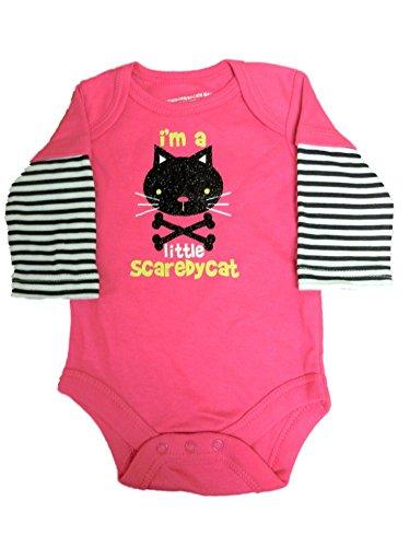 Langarmbody Body Babybody Halloween Mädchen Katze cat girl onesie Unterwäsche Baby (0-24 Monate) (62/68)