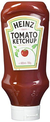 Heinz Tomato Ketchup, Kopfsteher-Dosierflasche, 5er Pack (5 x 605 ml)