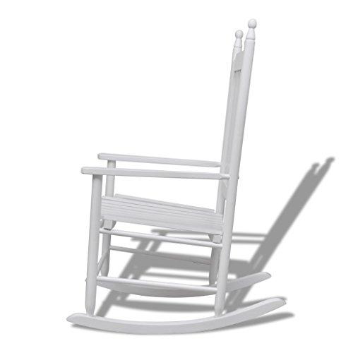 silla Mecedora de Madera Blanca