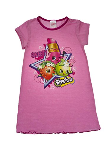 Girls-Shopkins-Nightie-Nightdress-Childrens-Character-Nightwear-Size-UK-2-8