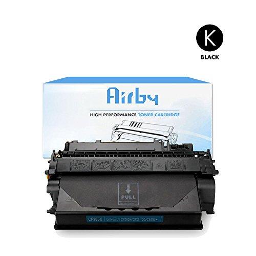 Airby® Kompatibel HP CF280X 80X Toner kartusche für HP LaserJet Pro 400 M401a M401n M401d M401dn M401dne M401dw MFP M425dn M425dw Schwarz je 6,900 Seiten