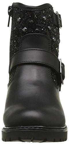 ASSO Stivale, Bottes Motardes Fille Noir (Black)