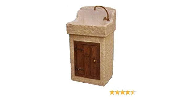 Lavello Da Esterno Prezzi : Lavabo lavello da giardino a mobiletto in pietra h cm