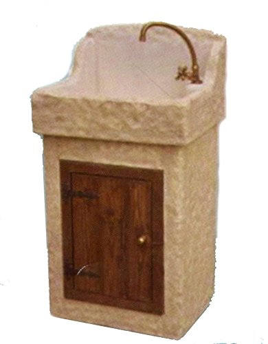 Lavabo Lavello da Giardino a Mobiletto in Pietra - H cm 110x46x55