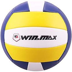 Molee Ballon de Beach Volley,Ballon de Volley,Volley-Ball (Jaune/Marine Nouvelle Version)