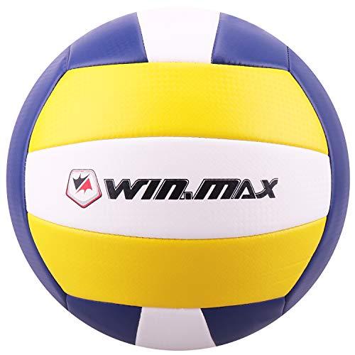 Molee Beachvolleyball,Volleyball,Beach und Funball Größe 5 Weicher Ballkontakt (Blau/Gelb Neue Version)