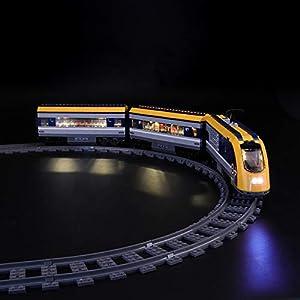 LIGHTAILING Set di Luci per (City Treno Passeggeri) Modello da Costruire - Kit Luce LED Compatibile con Lego 60197 (Non… 8 spesavip