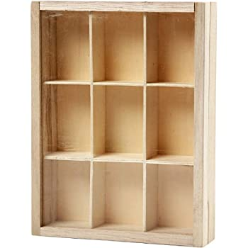 """Idea-ology Configurations Chipboard Shadow Box-6.75/""""x8.75/"""" 9 Compartments"""