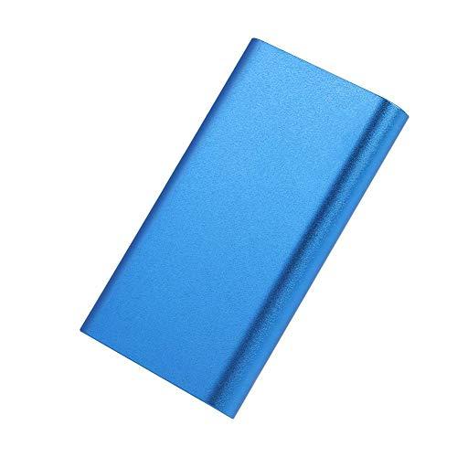 ASHATA Mobile Externe Festplatte, Mini SSD 512/256/128/64 GB Solid-State-Drive Laufwerk,Tragbar Mobile SSD-Festplatte Hochgeschwindigkeit MSATA USB3.0 Festplatte für Laptop Desktop PC Blau(64GB) -