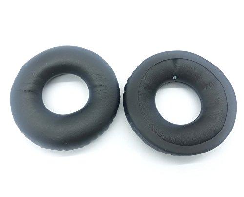 Oreiller de coussin rond coussin en cuir de remplacement de 70mm pour Sennheiser HD25 PC150 PC151 PC155 ON-EAR casque (sans filet)
