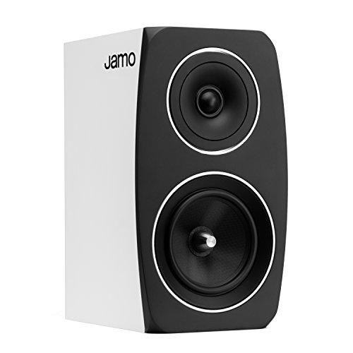 Jamo 1060861 &Lautsprecher für MP3 und Ipod, schwarz, weiß (Bücherregal Finish Schwarzes)