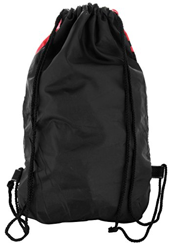 Best string bag in India 2020 Roadeez Polyester 2.5L Red and Black Drawstring Bag Image 2