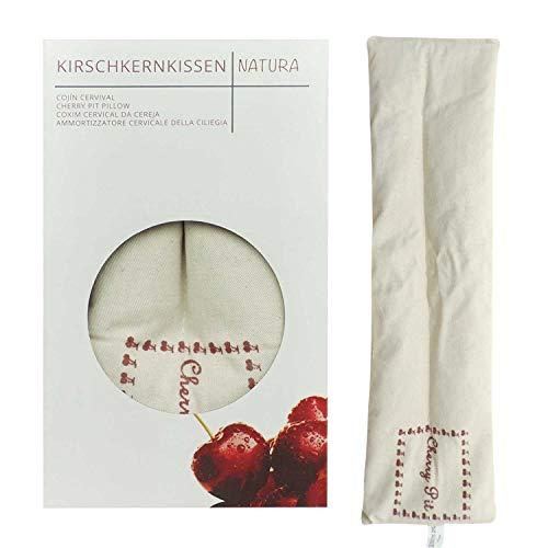 Umoi Öko cuscino con noccioli di ciliegia extra lungo, con 350 grammi di noccioli, per relax e benessere. Da riscaldare in forno o in microonde. 350 grammi di noccioli di ciliegia, dimensioni 42x12cm