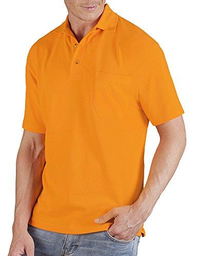 Poloshirt mit Brusttasche Herren Orange