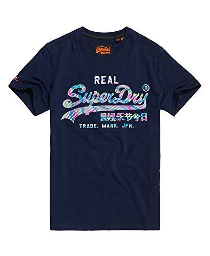 Superdry Herren Vintage Logo Muilti Colour Tee T-Shirt,Blau (Gardena Navy A8M),XL (52) - Herren-vintage-tee
