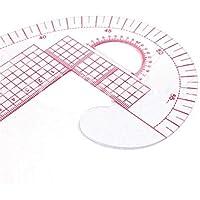 Aofocy Diy nube en forma de regla para la medición de la ropa regla de corte de plástico multifuncional siembra topografía curva herramienta de trabajo de costura 2 piezas