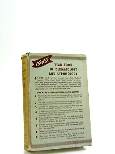 1945 Year Book Dermatology Syphilology