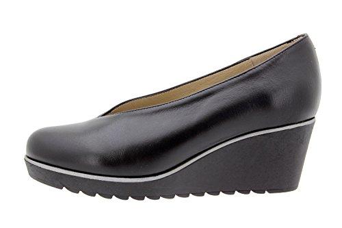 Chaussure femme confort en cuir Piesanto 9778 escarpin confortables amples Noir