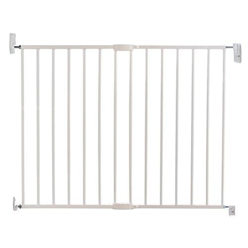 Munchkin Tür-/Treppenschutzgitter aus Metall mit Wandbefestigung, verstellbare Breite, 64,5-102 cm, weiß -