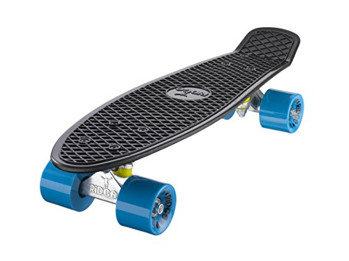 Ridge Skateboards 22' Mini Cruiser Skateboard, Nero/Blu