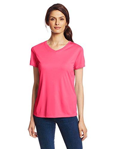 Hanes Herren Asymmetrischer T-Shirt Rosa - Wow Pink