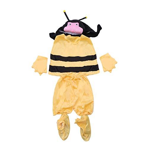 BESTOYARD Kinder Biene Kostüm Set Größe XL (Gelb)