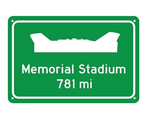 Celycasy Straßenschild Clemson Tigers Memorial Stadium Miles to Stadium Highway Road Sign Customize The Distance